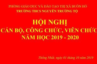 Đại hội CB-CN-VC Năm học 2019 – 2020